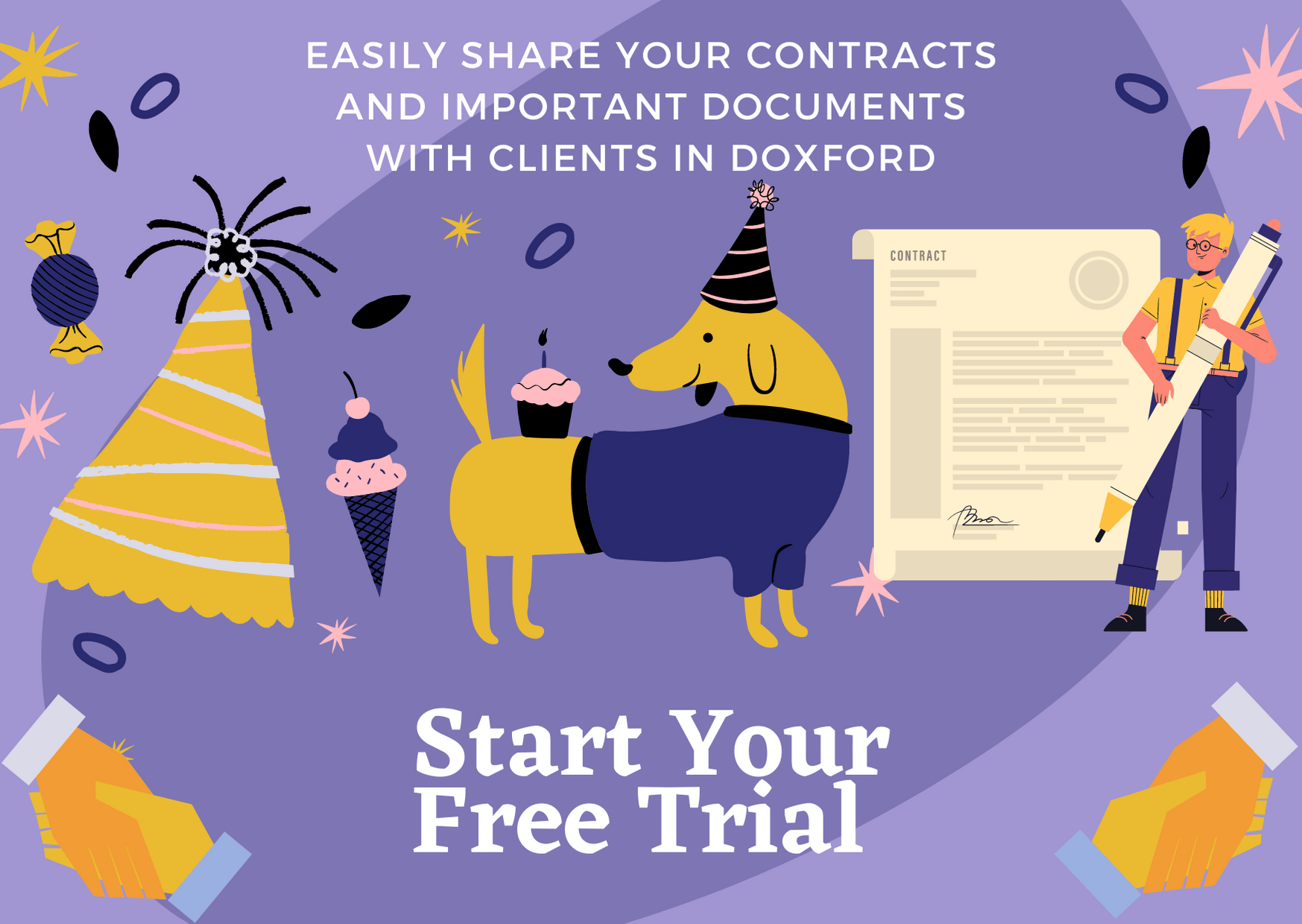 Share contracts and docs with Doxford